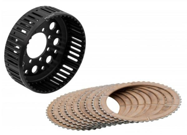 KIT CLUTCH HOUSING 48 TEETH WITH FRICTION DISCS AND DRIVEN STEELS DUCATI