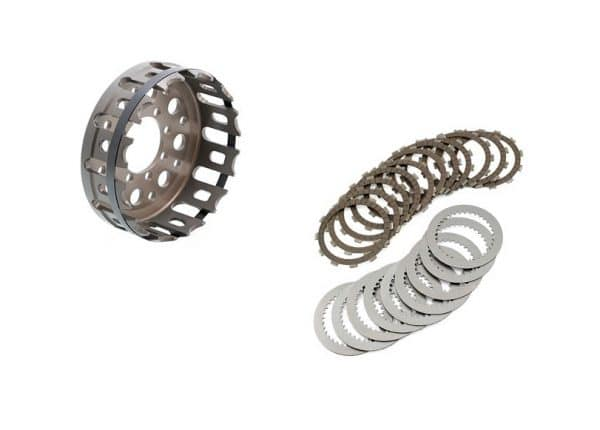 KIT CLUTCH HOUSING WITH FRICTION DISCS AND DRIVEN STEELS