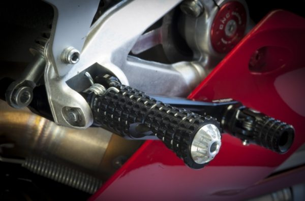 Footpegs for stock rearsets driver Ducati MV Agusta