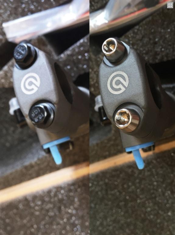 SCREWS SET BRAKE OR CLUTCH LEVER PERCH PINCH M6X25 (2 PCS) - TITANIUM