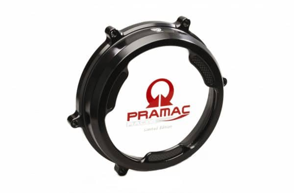 CLEAR OIL BATH CLUTCH COVER WITH CARBON FIBER INLAY FOR DUCATI PANIGALE PRAMAC RACING LIM. ED.