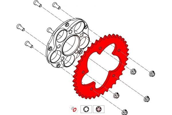 RING GEAR Z43 P520 5 HOLES DUCATI
