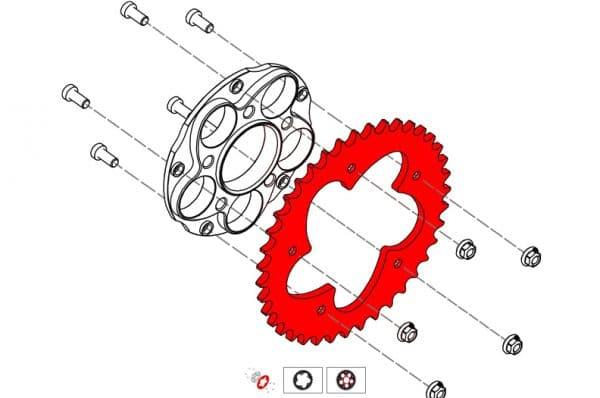 RING GEAR Z46 P525 5 HOLES DUCATI