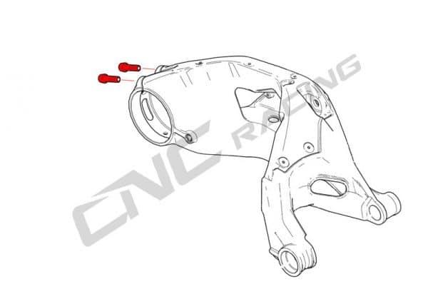 REAR HUB SWINGARM PINCH BOLT (2 PCS) - TITANIUM