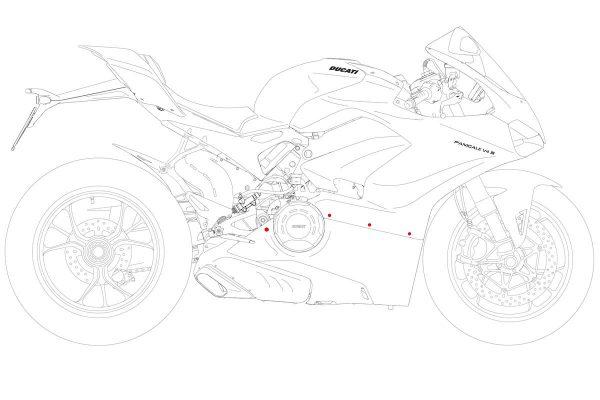 Fairing screw kit Ducati Panigale V4