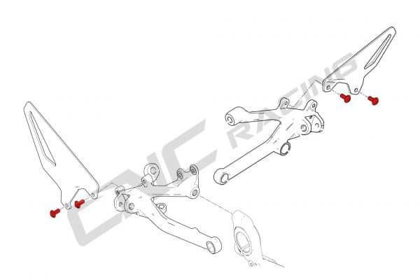 Screw set - OEM Heel guard Ducati panigale V4