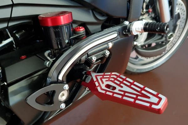 Folding driver footpegs Ducati XDiavel - bicolor
