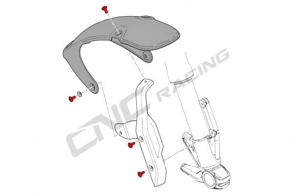 Front mudguard Ducati Scrambler 1100 screw set