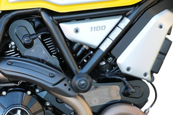 Protection pads for engine, frame and fairing Ducati Scrambler 1100