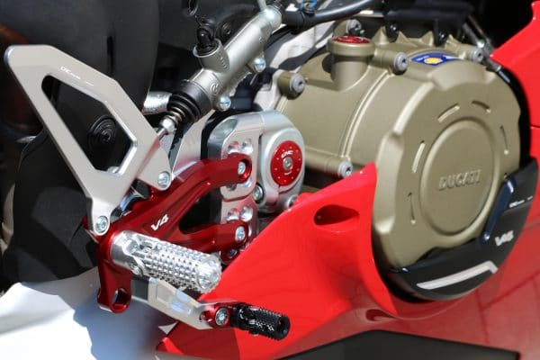 Adjustable rear sets Ducati Panigale V4 series for V4, V4 S and V4 Speciale - Pramac Racing limited Edition