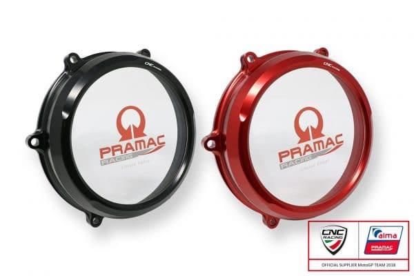 Clear oil bath clutch cover Ducati Panigale V4 - Pramac Racing Limited Edition