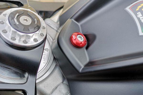 Fuel tank cover screw collar Aprilia