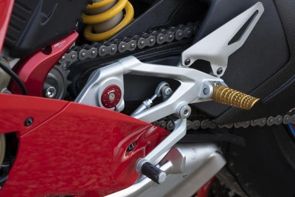 Footpegs for OEM rear sets Ducati LIGHT - driver