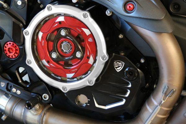Clear cover oil bath clutch Ducati BICOLOR