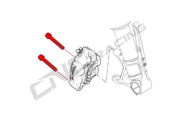SCREWS FRONT BRAKE CALIPER SET M10X60 (2 PCS) - TITANIUM