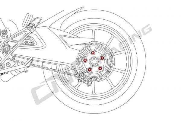 Nuts sets rear sprocket flange Ducati MV Agusta M10x1.25